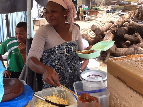 Roadside Lunch (Indomie, Jollof Rice and Chicken) Lekki Lagos State Nigeria by Jujufilms