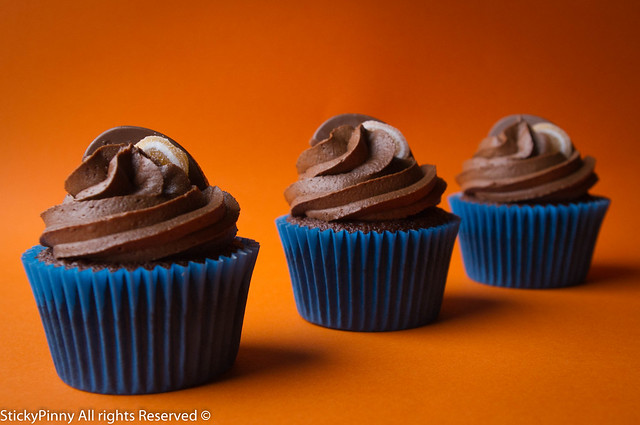 Sticky Pinny Chocolate Orange Cupcakes