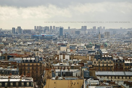 View of Paris from Montmarte Hill