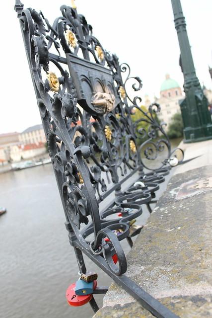 Cadenas d'amour, pont Charles, Prague