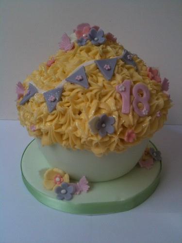 Giant Dairy-free Cupcake for 18th Birthday Tea Party