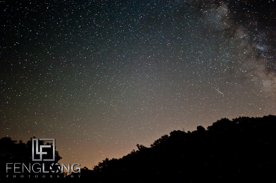 Meteor & The Milky Way - Night Shoot during Perseids 2011 & New Moon