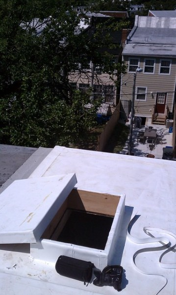 New roof hatch