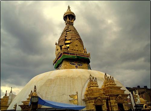 Swayambhunath Stupa at Kathmandu , Nepal
