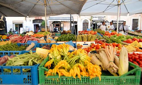 Rome Campo de Fiori vegetable market