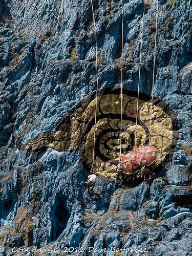 Painting the Mural de la Prihistoria