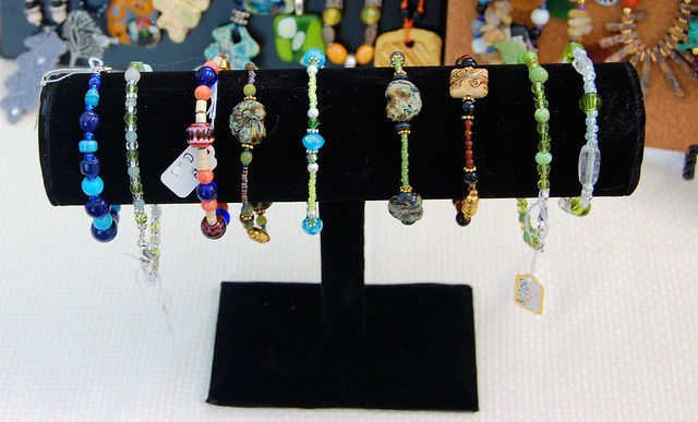 My bracelets on display