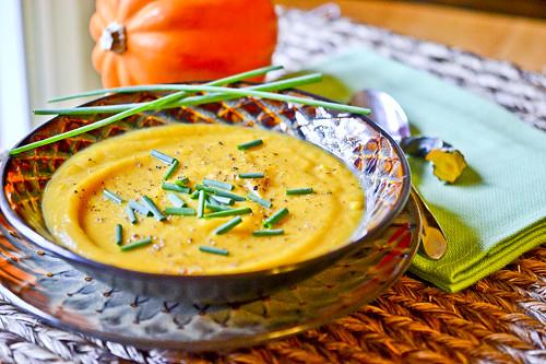 Roasted Squash, Sweet Potato & Garlic Soup
