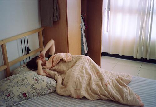 賴床!/ 寝坊!