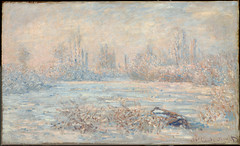 Le Givre, A view of Vétheuil in winter, a commune in the Val-d'Oise, Île-de-France, 1880, by Monet