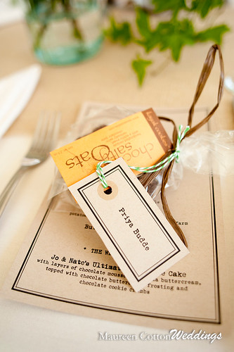 Place card/favors