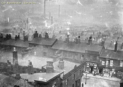 Ancoats - General View From Victoria Hall Roof, 1895