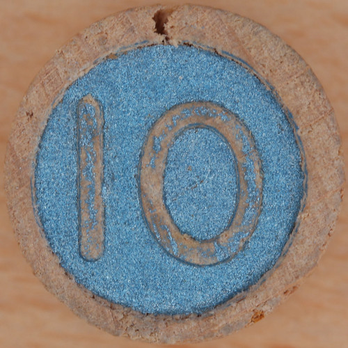 Wooden Bingo Number 10