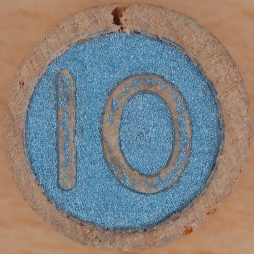 Wooden Bingo Number 10