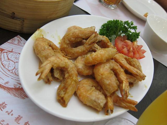 Shrimps in salted egg