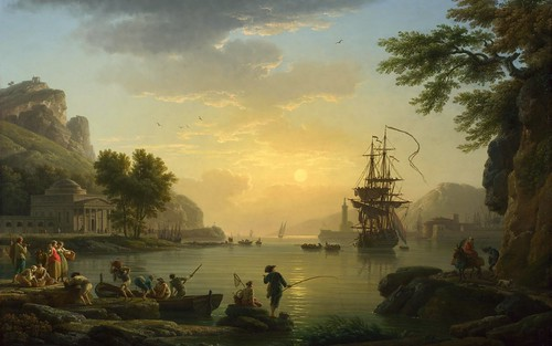 Claude-Joseph Vernet - National Gallery (London) NG6600. A Landscape at Sunset (1773)