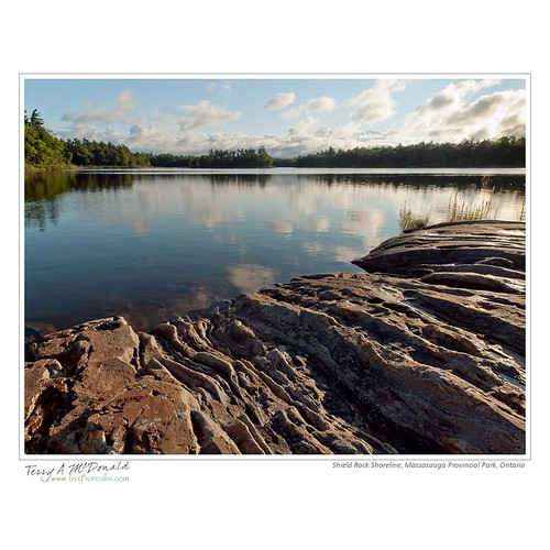 Shield Rock Shoreline, Massasauga Provincial Park, Ontario