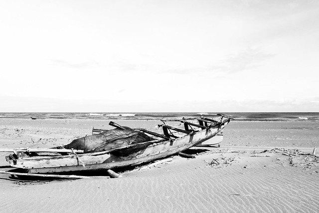 Boat at Lapaz Sand Dunes - 2