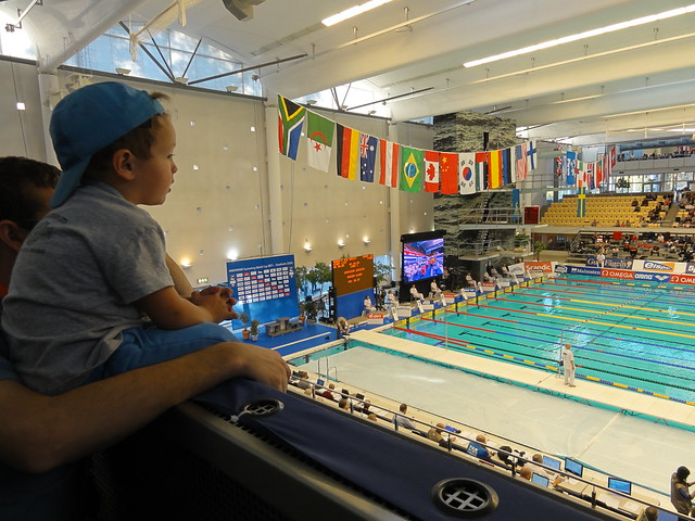 Father and son at the 2011 Stockholm World Cup