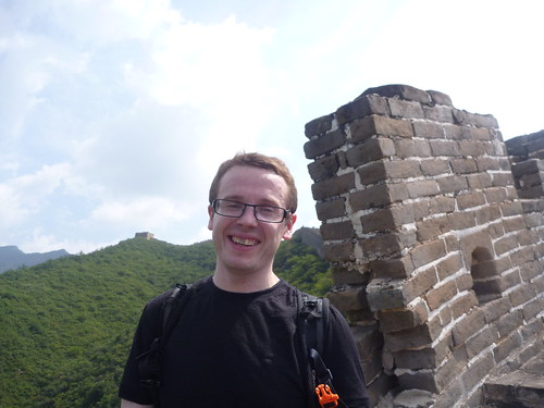 Col posing on the Great Wall