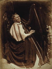 Patrick Byrne, Blind Irish Harpist, 1845, by Hill and Adamson