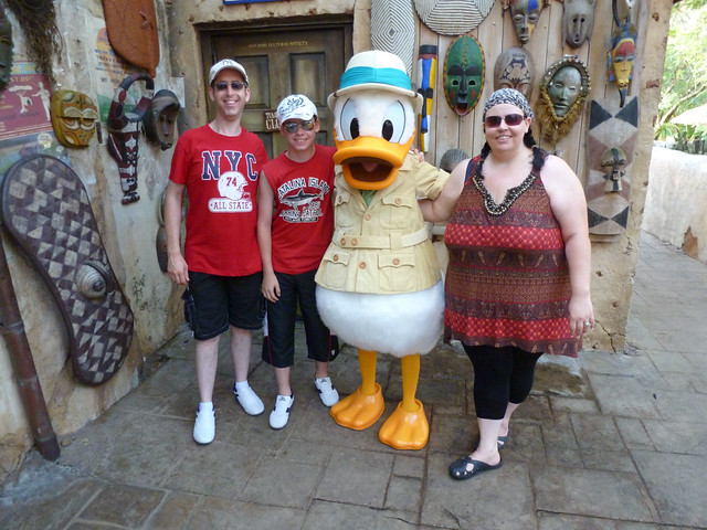 Meeting Donald Duck!