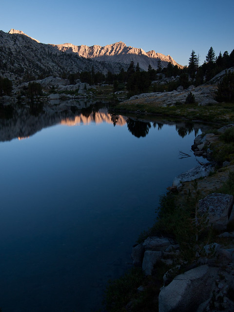 Dawn at Rae Lakes, Kings Canyon National Park