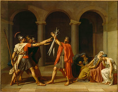 The Oath of the Horatii, 1785, by Jacques-Louis David
