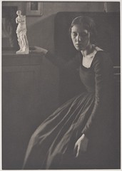 Lady in Black with Statuette from Camera Work, 1908, by Clarence H White