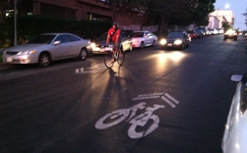 New Sharrows on Reseda Boulevard
