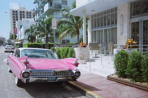 1959 Pink Cadillac South Beach
