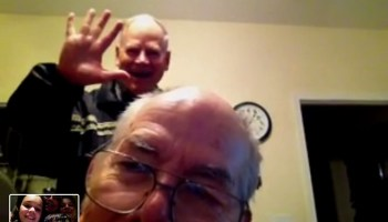 facetime with the grandparents and uncle bob