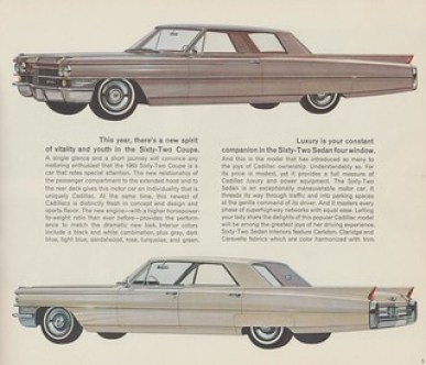 1963 Cadillac Sixty-Two Coupe and Sedan Four Window