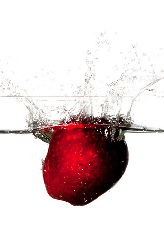 Fruits being Dropped into a Fish Tank (the first few tries) (5/5)