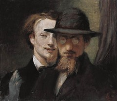 Double Portrait of Marées and Lenbach, 1863, by Hans von Marées