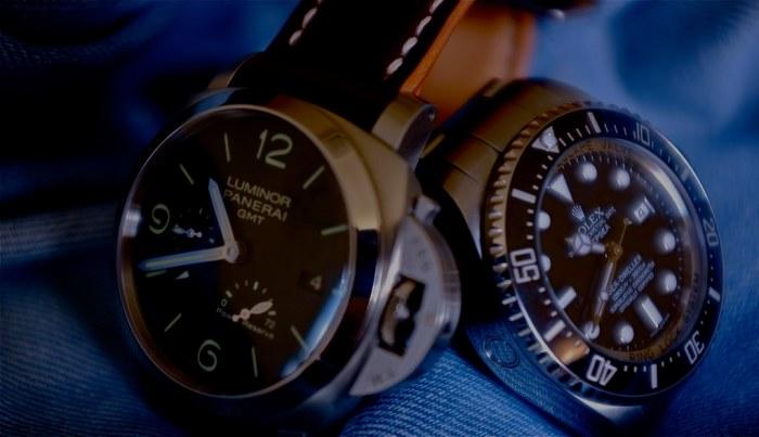 Panerai PAM 347 + Rolex Sea-Dweller Deepsea 116660