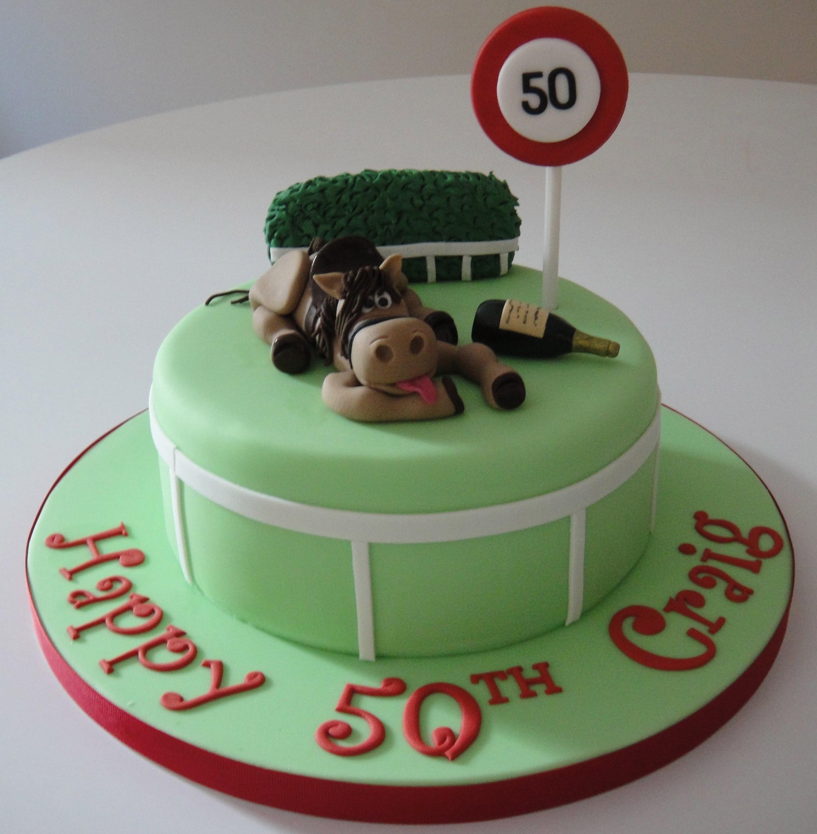 Horse Racing Themed Birthday Cakes