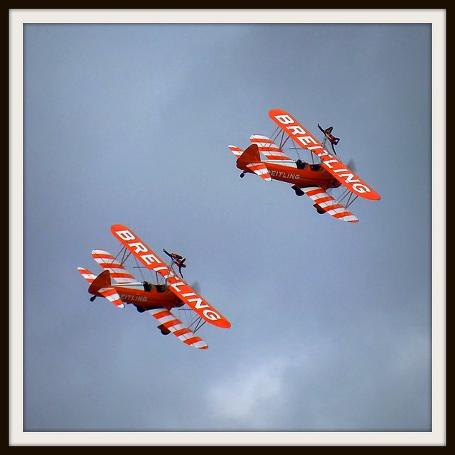 Breitling Wing Walkers at Cardiff Harbour Festival 2011