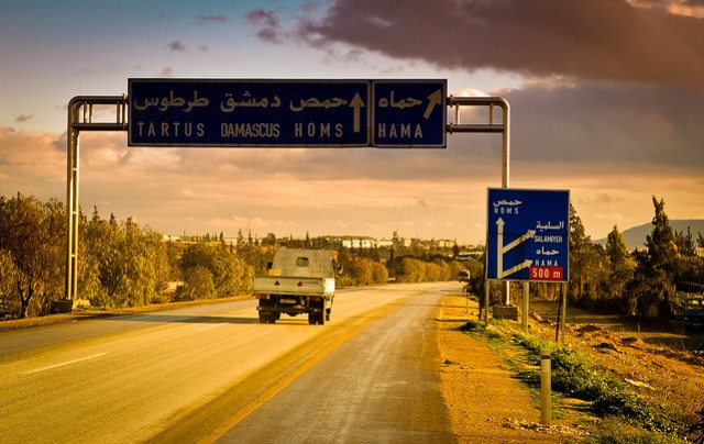 On the road in Syria