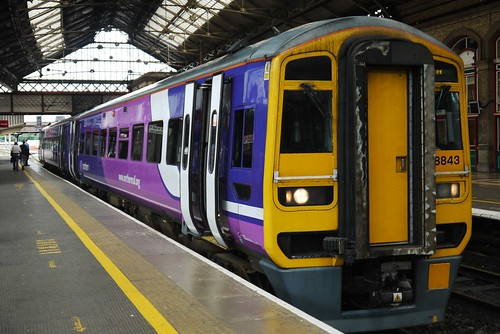 Class 158, platform 2, Preston railway station