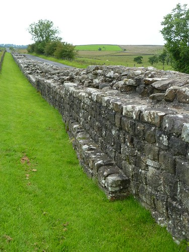 The curtain wall W of Birdoswald
