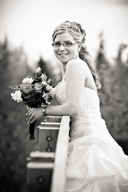 Happy Bride at UNBC