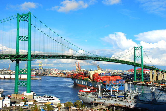 Cargo Ship, Port of Los Angeles, California