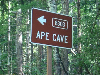Ape Caves Sign