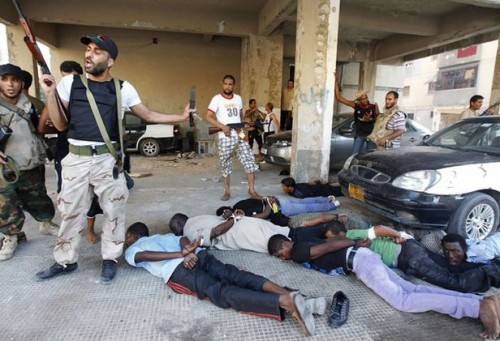 Africans in US-NATO occupied Libya have been arrested, beaten, tortured and killed by the CIA, MI-6 trained counter-revolutionary rebels. The armed groups have targeted dark-skinned people for liquidation. by Pan-African News Wire File Photos