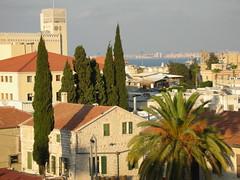 View across the Templar Buildings in Haifa's German Colony by Yoav Lerman, on Flickr