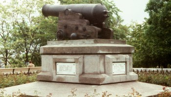ODESSA-British cannon from Crimean War, 5-1977