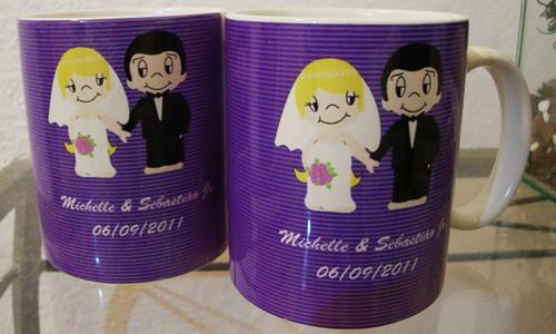 Caneca oficial mãe da noiva by by Luciana Godoy - Lembrancinhas Personalizadas