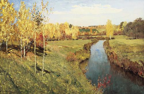 """И.И. Левитан """"Золотая осень"""", 1895 г."""