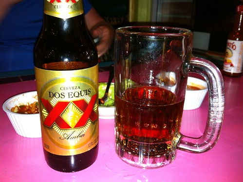Ice-cold Dos Equis beer!